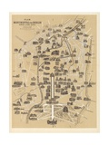 Map of Berlin, Published by Carl Glueck Verlag, Berlin, 1860 Giclee Print by German School