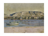 Geneva Harbour and the Saleve, 1878 Giclee Print by Ferdinand Hodler