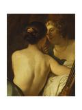 Júpiter disfrazado de Diana seduciendo a Calisto Lámina giclée por Gerrit van Honthorst