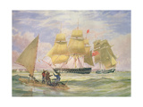 Hm Ships 'Ganges' and 'sapphire' Off Pernambuco, 1829 Giclée-Druck von Emeric Essex Vidal