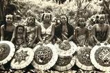 Orang Ulu Girls, Sarawak, Malaysia C.1940 Photographic Print