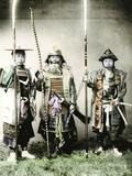 Samurai of Old Japan Armed with Long Bow, Pole Arms and Swords, 1883 Photographic Print