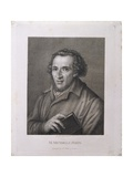 Portrait of Moses Mendelssohn Published by C. Kolbe, Weimar, 1821 Giclee Print by Franz Erich Moritz Steinla