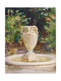 Vase Fountain, Pocantico Giclee Print by John Singer Sargent