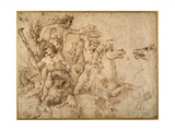 Battle of the Tritons, after Anrea Mantegna Reproduction procédé giclée par  Raphael