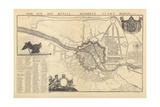 Map of Berlin, 1737 Giclee Print by G. Dusableau