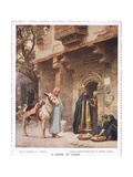 A Scene in Cairo, from the 'Bibby Annual' Published in 1917 Giclee Print by Frederick Arthur Bridgman