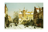 A Dutch Village in Winter Giclee Print by Willem Koekkoek