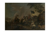 Two Standards Giclee Print by Philips Wouwermans or Wouvermans