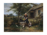 Farmyard Happiness Giclee Print by Jan Mari Henri Ten Kate