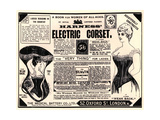 Advertisement for 'Harness' Electric Corset', 1890s Giclee Print