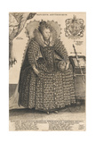 Elizabeth, Queen of England, C.1603 Giclee Print by Crispin I De Passe