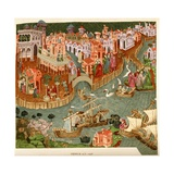 Venice, 1338, after a Manuscript in the Bodleian Library, from 'A Short History of the English… Giclee Print