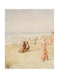 The Beach, Ostende Giclee Print by Alfred Emile Stevens