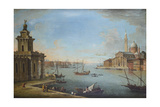 The Bacino Di San Marco, Venice, Looking East, with the Church of San Giorgio Maggiore Giclée-tryk af Antonio Joli
