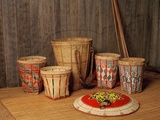 Baskets Made by Kelabit Tribe, Sarawak, Malaysia Photographic Print