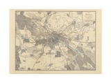 Map of Berlin, 1802 Giclee Print by J.F. Schneider