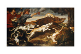 A Boar Hunt Giclee Print by Frans Snyders