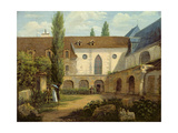 The Convent Courtyard of Petits-Augustins a Paris, C.1818 Giclee Print by Etienne Bouhot