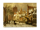 A Winter Street Scene Giclee Print by Willem Koekkoek