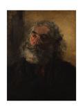 Portrait of a Bearded Man, 1855 Giclee Print by Adolph Friedrich Erdmann von Menzel