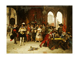 Musketeers of the King, 1885 Giclee Print by Adolphe Alexandre Lesrel