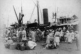 Prince's Dock, Bombay: Pilgrims Embarking, 1870s Photographic Print by Willoughby Wallace Hooper