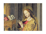 The Virgin Mary Reading from a Book of Hours, C.1445 (Detail) Giclee Print by  Master of the Aix Annunciation