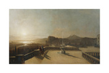 Figures on a Moonlit Terrace Giclee Print by Francis Danby