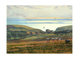 Fairlight Downs, Sunlight on the Sea Giclee Print by William Holman Hunt