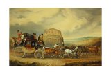 The Exeter to London Royal Mail Passing William Downe's Exeter Wagon Giclee Print by Charles Cooper Henderson