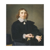 A Portrait of a Gentleman Pointing to a Pocket Watch in His Hand, 1650 Giclee Print by Jan Victors