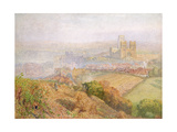 Durham, Misty with Colliery Smoke Giclee Print by Alfred William Hunt