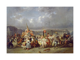 Carnival in the Place De La Concorde, Paris, C.1845 Giclee Print by Ernest Seigneurgens