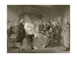 John Wesley on His Death Bed, after a 19th Century Work Engraved by John Sartain Giclee Print