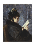 A Portrait of Madame Brizat from the Comedie Francaise Giclee Print by Alfred Emile Stevens