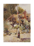 Old Cottage at Sutton Courtney, Berkshire Giclee Print by David Woodlock