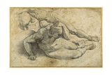 Three Nudes in Attitudes of Terror Impression giclée par  Raphael