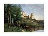 Ruins of the Chateau De Pierrefonds, C.1830-35 Giclee Print by Jean Baptiste Camille Corot