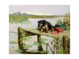 Terrier - Fishing, C.1890 Giclee Print by Philip Eustace Stretton