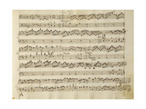 Manuscript Page from the Score of Opus V, 'sonata for Violin, Violone, and Harpsichord' Giclee Print by Arcangelo Corelli