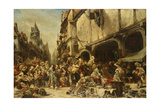 The Market Place, 1862 Giclee Print by Louis Eugene Gabriel Isabey
