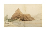 Rock of Skardo on the Indus, Little Tibet, 1837 Giclee Print by Godfrey Thomas Vigne