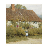 Cottage at West Horsley, Surrey Giclee Print by Helen Allingham