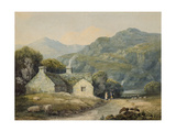 A Farmhouse at Llanberis, North Wales Gicléedruk van David Cox