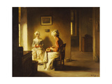Seamstresses in an Interior Giclee Print by Joseph Bail