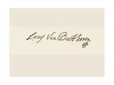 Signature of Ludvig Van Beethoven Giclee Print by Ludwig Van Beethoven