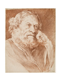 Head of a Bearded Man, Mid 18th Century Giclee Print by Edme Bouchardon