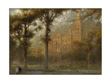 Salisbury Cathedral: the West Front and Spire Giclee Print by Albert Goodwin