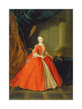 Maria Amalia of Saxony (1724-60) Queen of Spain Giclee Print by Louis de Silvestre